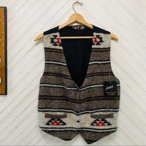 NWT Vintage Wool Aztec Waistcoat Vest